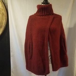 TSE Red turtleneck cape!